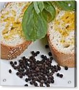Bread And Olive Oil Acrylic Print