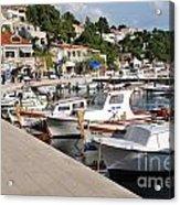 Brela Harbour Croatia Acrylic Print