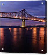 Commmodore Barry Bridge In The Blue Hour Acrylic Print