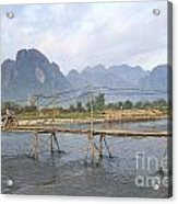 Bridge In Vang Vieng Laos Acrylic Print