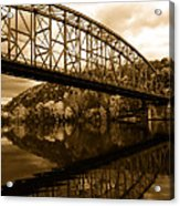 Bridge Reflections In Autumn Acrylic Print