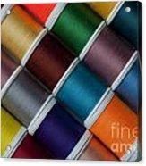 Bright Colored Spools Of Thread Acrylic Print