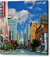 Broad Street - Avenue Of The Arts Acrylic Print