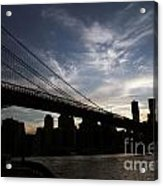 Brooklyn Bridge Sunset Acrylic Print