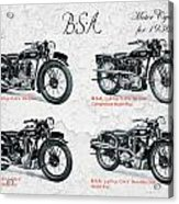 Bsa Motor Cycles For 1936 Acrylic Print
