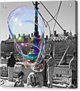 Bubbles Big Ben Acrylic Print
