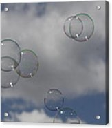 Bubbles In The Clouds Acrylic Print