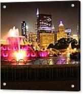 Buckingham Fountain Chicago Acrylic Print by Ed Pettitt