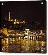 Budapest At Night Acrylic Print