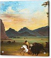 Buffalo Hunt Acrylic Print