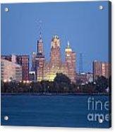 Buffalo Skyline From Fort Erie At Dusk Acrylic Print