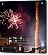 Bull Durham Fireworks Acrylic Print by Jh Photos
