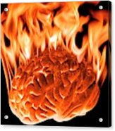Burning Human Brain Acrylic Print