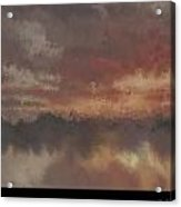 Burnt Sunset Old Acrylic Print by Holley Jacobs