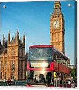 Bus In London Acrylic Print