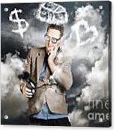Business Man Planning Work Life Balance Strategy Acrylic Print
