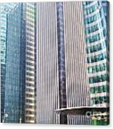 Business Skyscrapers Modern Architecture Acrylic Print