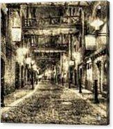 Butlers Wharf London Vintage Acrylic Print