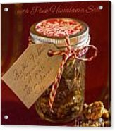 Butter Toffee Pecan Nuts With Himalania Salt Acrylic Print