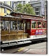 Cable Car On Turntable San Francisco Acrylic Print
