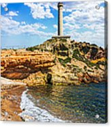Cabo De Palos Lighthouse On La Manga In Spain. Acrylic Print
