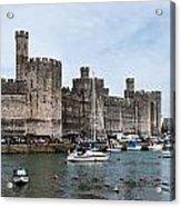 Caernarfon Castle Panorama Acrylic Print