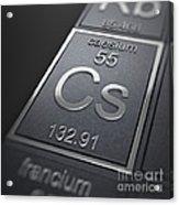 Caesium Chemical Element Acrylic Print