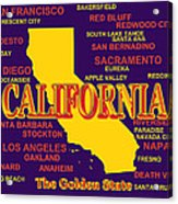 California State Pride Map Silhouette  Acrylic Print