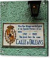Calle Orleans Acrylic Print