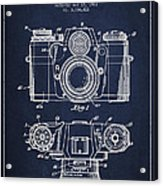 Camera Patent Drawing From 1962 Acrylic Print by Aged Pixel