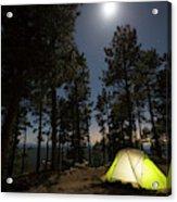 Camping On The Rim Acrylic Print