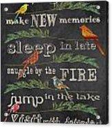 Camping Rules-d Acrylic Print