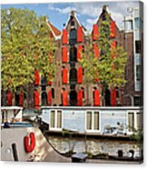 Canal In The City Of Amsterdam Acrylic Print