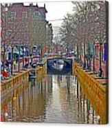 Canal Of Delft Acrylic Print