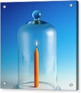 Candle In A Bell Jar Acrylic Print