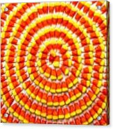 Candy Corn In Circles Acrylic Print