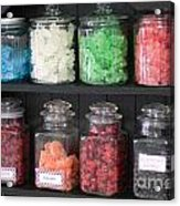 Candy In Container On Store Shelf Acrylic Print