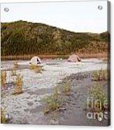 Canoe Tent Camp At Yukon River In Taiga Wilderness Acrylic Print