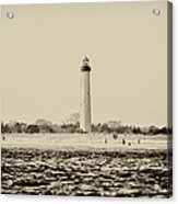 Cape May Lighthouse In Sepia Acrylic Print