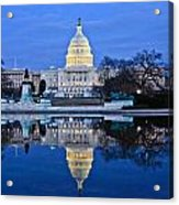 Capitol Reflecting Pool Acrylic Print