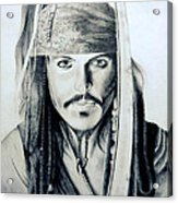 Johny Depp - The Captain Jack Sparrow Acrylic Print