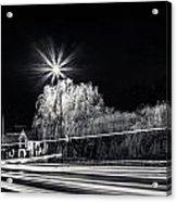 Car Light Trails Acrylic Print