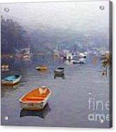 Careel Bay mist Acrylic Print
