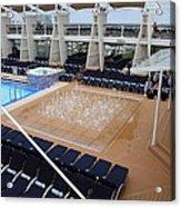 Caribbean Cruise - On Board Ship - 12129 Acrylic Print