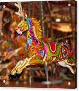 Carousel In Bournemouth Acrylic Print