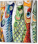 Carp Kites Acrylic Print