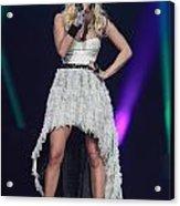 Singer Carrie Underwood Acrylic Print