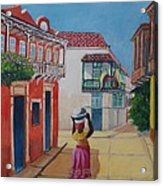Cartagena Seller Acrylic Print