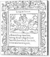 Cartouche, 1543 Acrylic Print