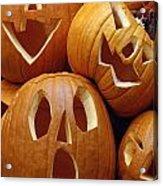Carved Pumpkins Acrylic Print